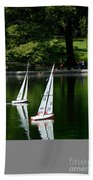 Model Boats Central Park New York Beach Towel