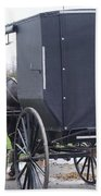 Modern Amish Horse And Buggy Beach Towel