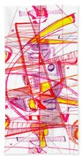 Modern Drawing Eighty-three Beach Towel