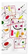 Modern Drawing Fifty-six Beach Towel