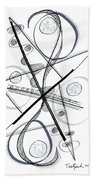 Modern Drawing Forty-eight Beach Towel