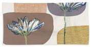 Modern Fall Floral 1- Art By Linda Woods Beach Towel