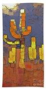Modern Saguaro - Red Beach Sheet