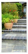 Modern Suburban House With Succulent Garden Hayward California 34 Beach Towel