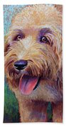 Mojo The Shaggy Dog Beach Towel