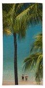 Mokapu Beach Senior Couple Beach Towel
