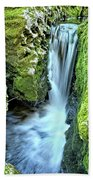 Moine Creek Goes Vertical Beach Towel