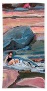 Momma At Slide Rock Park Arizona Beach Towel