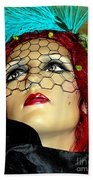 Mona In Mourning Beach Towel