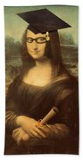 Mona Lisa  Graduation Day Beach Towel