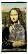 Mona Lisas Norwegian Forest Cat Beach Sheet