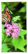 Monarch Butterfly And Honey Bee Beach Towel