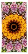 Monarch Butterfly On Milkweed Kaleidoscope Beach Towel