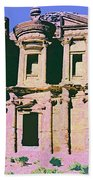 Monastery At Petra Beach Towel by Dominic Piperata