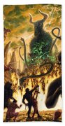 Monday In Hell With Devil Beach Towel by Martin Davey