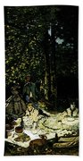 Monet Dejeuner Sur L Herbe A Chailly Beach Towel