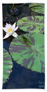 Monet Lilies White  Beach Towel