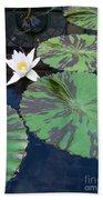 Monet Lilies White  Beach Towel