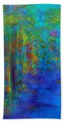 Monet Woods Beach Towel