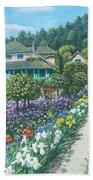 Monet's Garden Giverny Beach Towel