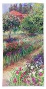 Monet's Garden  Beach Towel