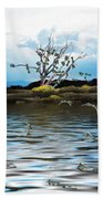 Money Tree On A Windy Day Beach Towel