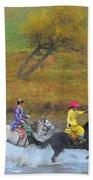 Mongolian Rider Beach Towel
