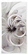 Monochrome Flower Beach Towel