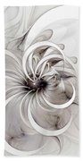 Monochrome Flower Beach Towel