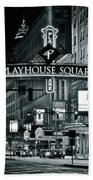 Monochrome Grayscale Palyhouse Square Beach Sheet