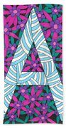 Monogram A Beach Towel
