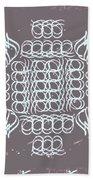 Monogram Qm Ivory Slate Beach Towel