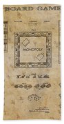 monopoly Board Game 1935 Beach Towel