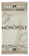 Monopoly Board Patent Vintage Beach Towel