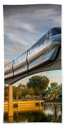 Monorail At Golden Hour Beach Towel