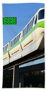 Monorail Green Wdwrf Beach Towel