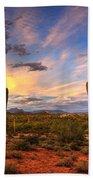 Monsoon Desert Sunset  Beach Towel