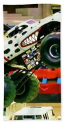 Monster Jam 2013 In Nassau Coliseum Beach Towel