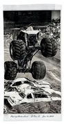 Monster Truck 1b Beach Towel