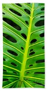 Monstera Leaf Beach Sheet