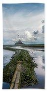 Mont Saint Michel Color Beach Towel