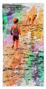 Montanita Kid With Dog Beach Towel