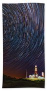 Montauk Star Trails Beach Towel