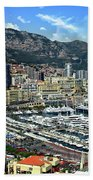Monte Carlo Harbor View Beach Towel