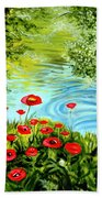 Monte Rio Poppies Beach Towel
