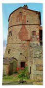 Montefollonico Stone Tower And Fortress Beach Towel
