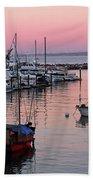 Monterey Bay Harbor Beach Towel