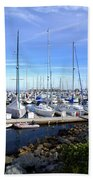 Monterey Harbor California Beach Sheet