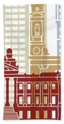 Montevideo Skyline Poster Beach Towel