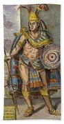 Montezuma II (1480?-1520) Beach Towel